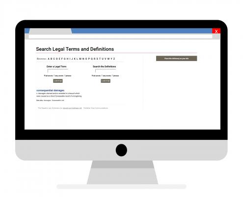 A dictionary.law.com szótára speciális jogi szakszótár jogi fordításhoz.